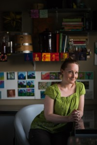 Dawn Youngs in her home studio